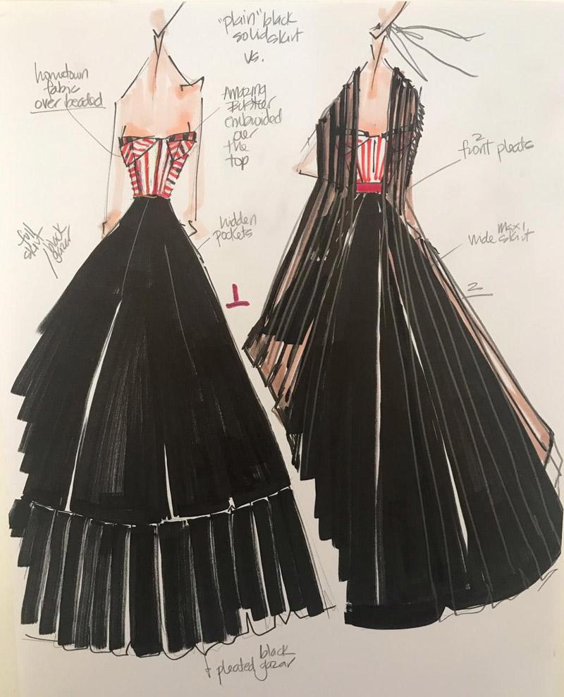 Vestido de Yalitza Aparicio: bordados oaxaqueños de familia