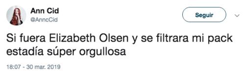 Filtran el pack de Elizabeth Olsen de AVENGERS