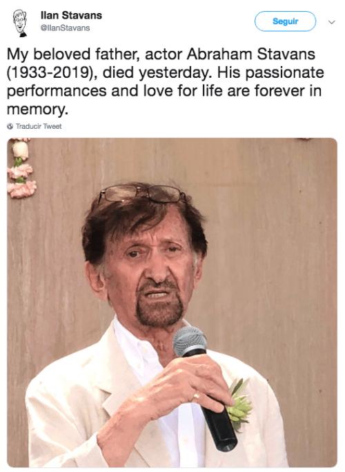 muere el actor Abraham Stavans
