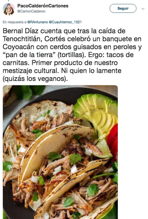 Senadora de Morena dice que comer tacos de carnitas es festejar caida de Tenochtitlán
