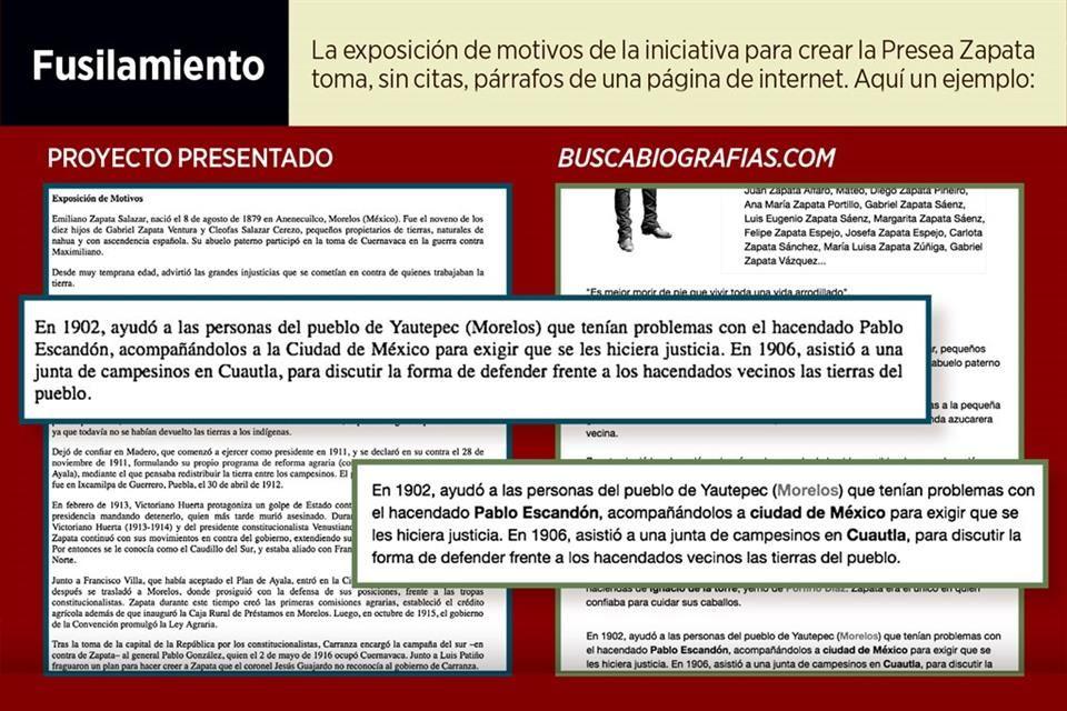 Sergio Mayer sacó la biografía de Zapata de Internet
