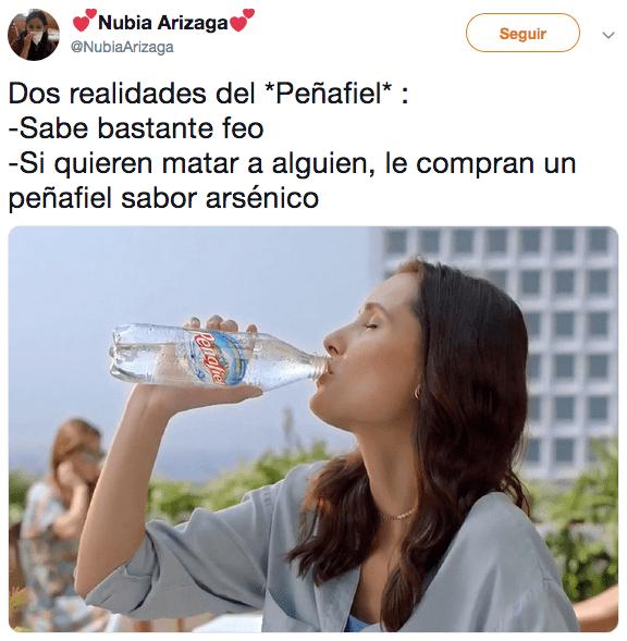 Memes del arsénico tóxico en productos Peñafiel