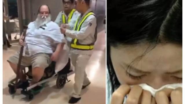 Video: hombre forzó a la tripulación de un avión a limpiarle el trasero