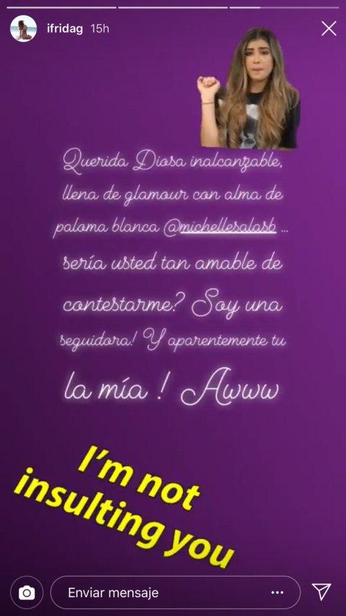 Frida Sofía vuelve a atacar a Michelle Salas