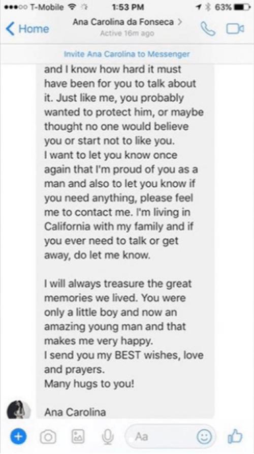 Hijo de Eduardo Yáñez exhibe mensajes que lo exponen como golpeador