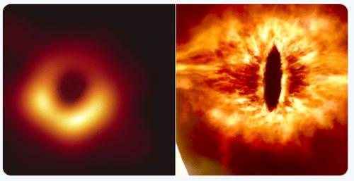 Memes de la primer foto del agujero negro