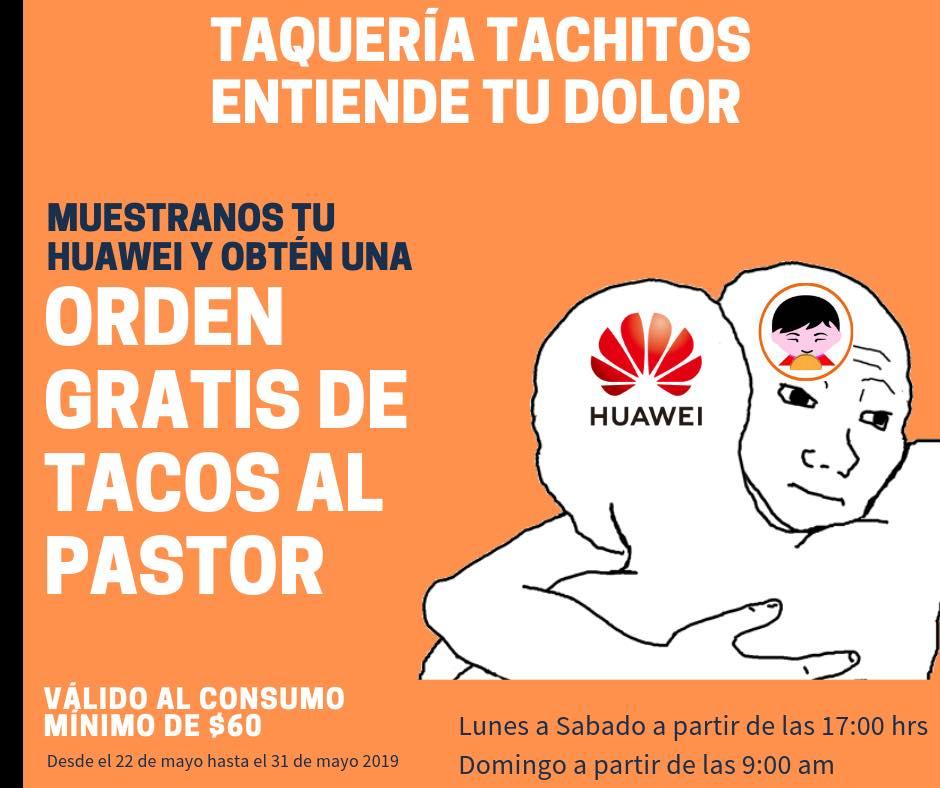 Taquería regala orden de tacos si tienes celular Huawei