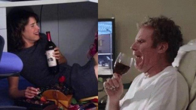 Beber Después Del Trabajo, Trabajo, Alcoholismo, Tomar Después De trabajar, Alcoholismo En El Trabajo, Fingir Felicidad