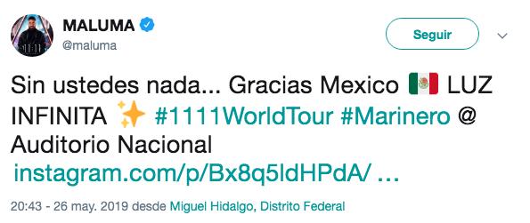 Maluma borra su cuenta de Instagram tras acusaciones de tráfico de animales
