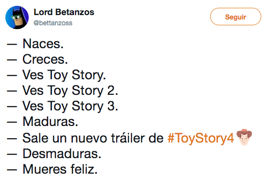 Memes del trailer final de Toy Story 4