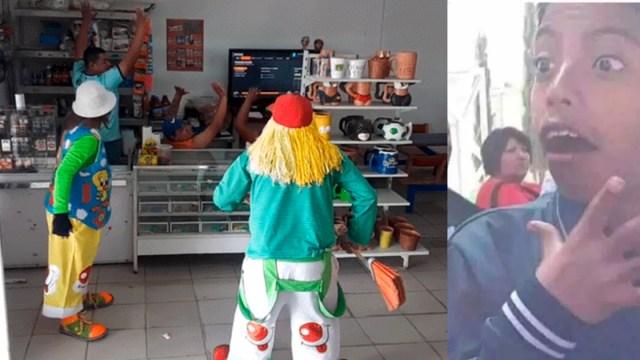 Video Payasos Asaltando Una Tienda, Payasos Asaltan Una Tienda, Video, Payasos, Asaltan, Broma