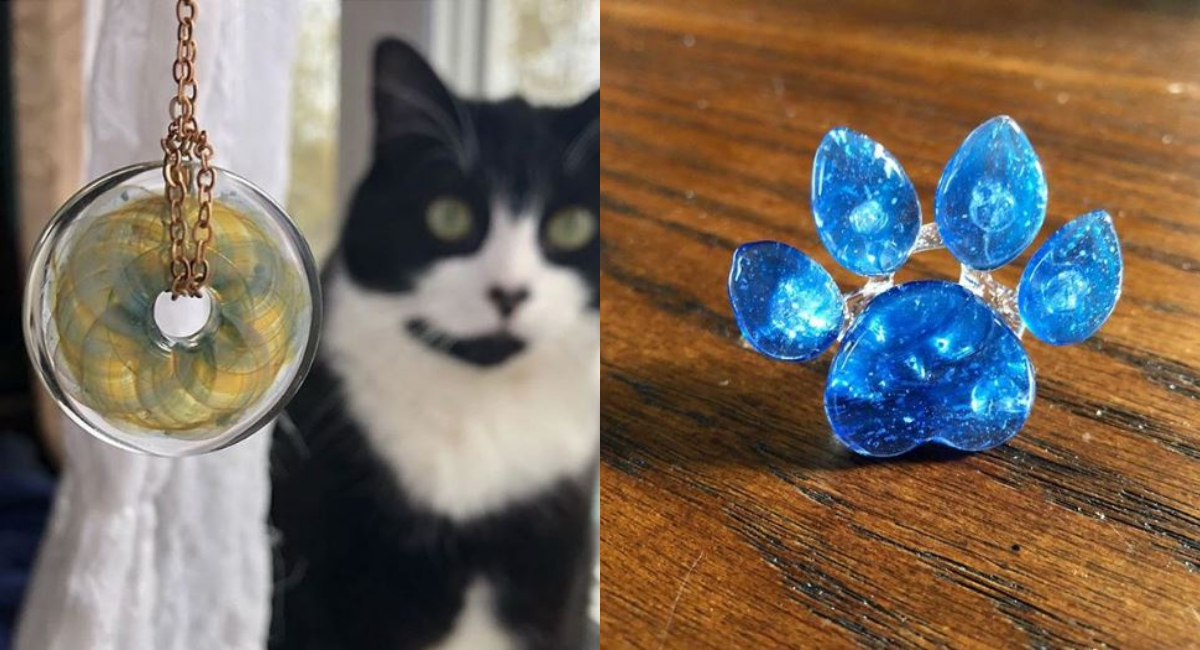Así puedes transformar cenizas de mascotas en joyerías