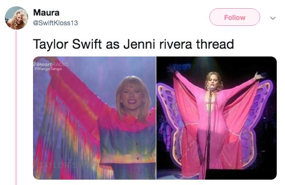 Taylor Swift y Jenni Rivera son la misma persona según Twitter