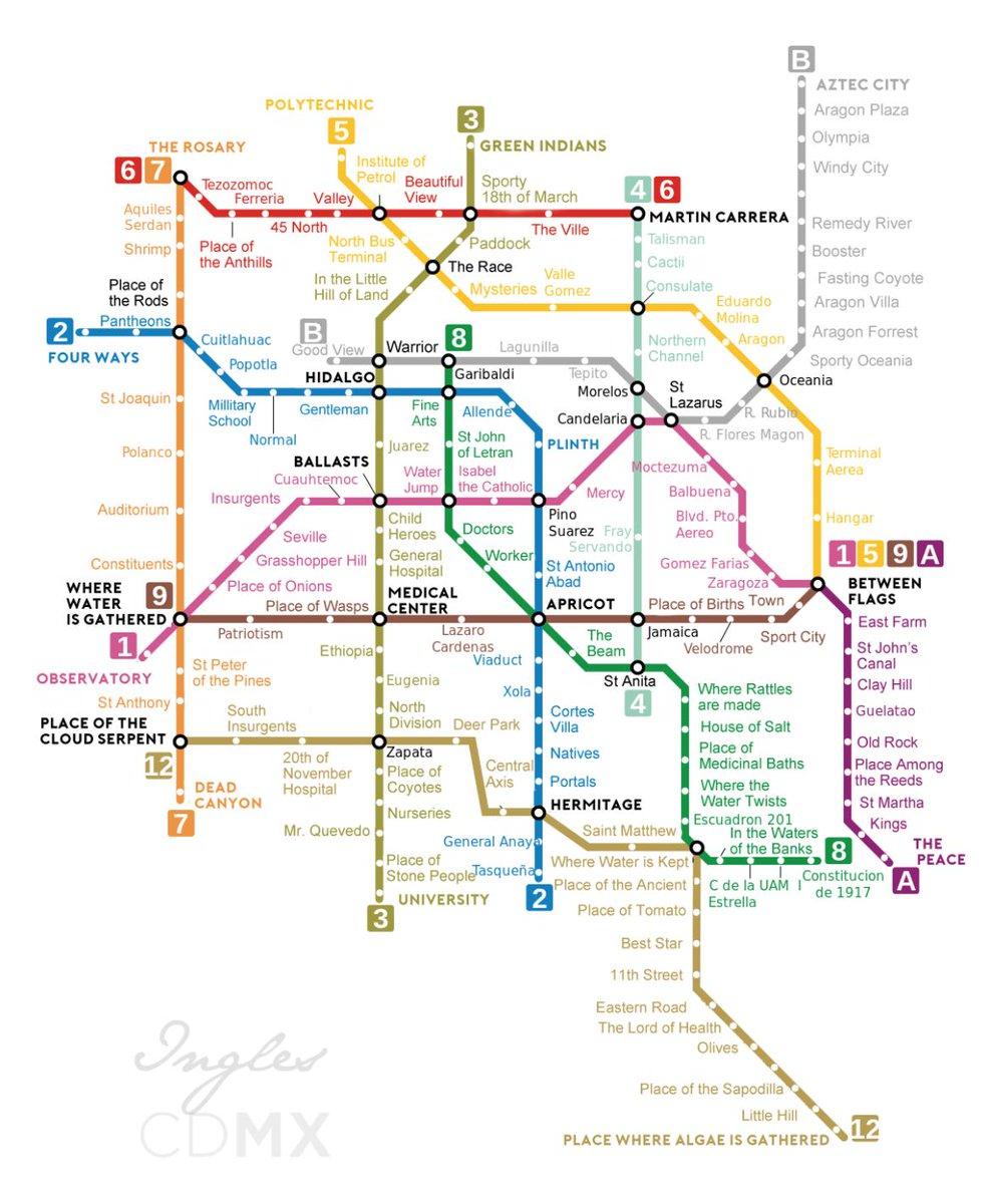 Traducen mapa del Metro al inglés y resultado se hace viral