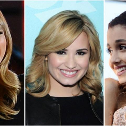 Ariana Grande Demi Lovato toman bando en el drama de Taylor