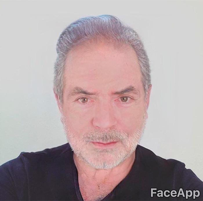 Famosos con Face App filtro de anciano