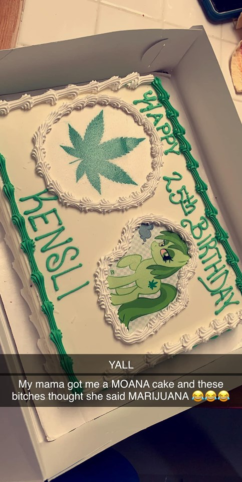 Encargó un pastel de Moana pero le mandaron uno de Marihuana