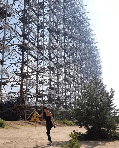 Celia Lora: foto en zona de exclusión de Chernobyl, Ucrania