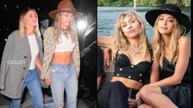10-09-2019, Miley Cyrus y Kaitlynn Carter tomadas de la mano