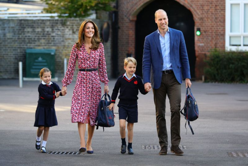 Primer día de clases de Charlotte, hija de Kate Middleton