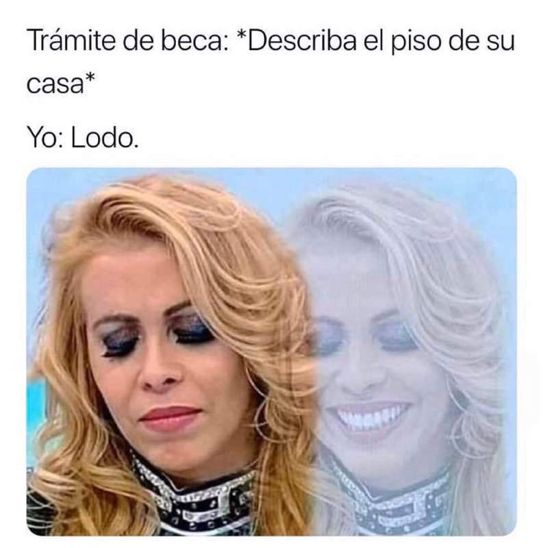 Memes de la señora triste y sonriendo