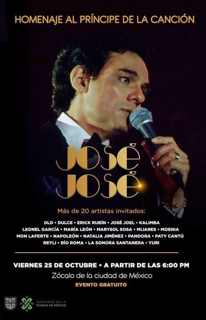 Quiénes estarán en el homenaje a José José en el Zócalo