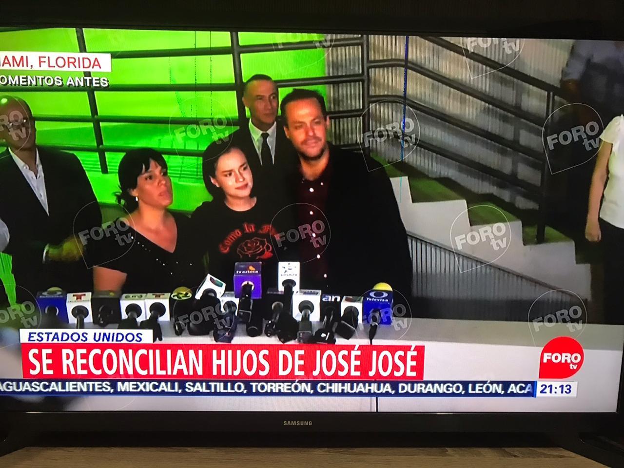 Sarita José Joel y Marysol hijos de José José se reconcilian