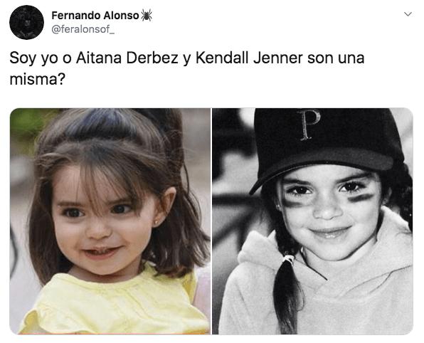 Aitana Derbez, hija de Eugenio Derbez, y Kendall Jenner son idénticas