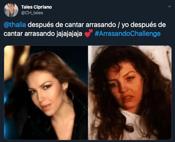 Thalía lanza Arrasando Challenge para rapear en Instagram