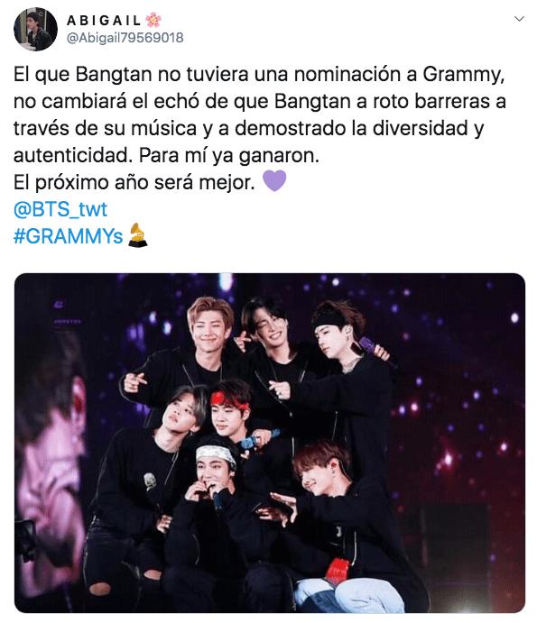 BTS no fue nominado a los Grammy 2020 y el ARMY reacciona