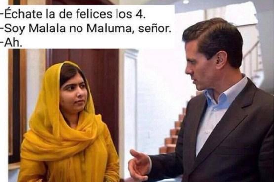 Meme de Peña Nieto con Malala