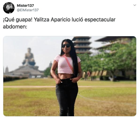 Yalitza Aparicio luce abdomen de acero en Taiwan