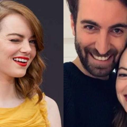 Emma Stone presume anillo de compromiso con Dave McCary