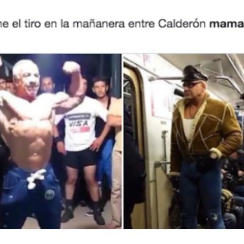 Memes de AMLO musculoso o mamado por foto de hombre fuerte