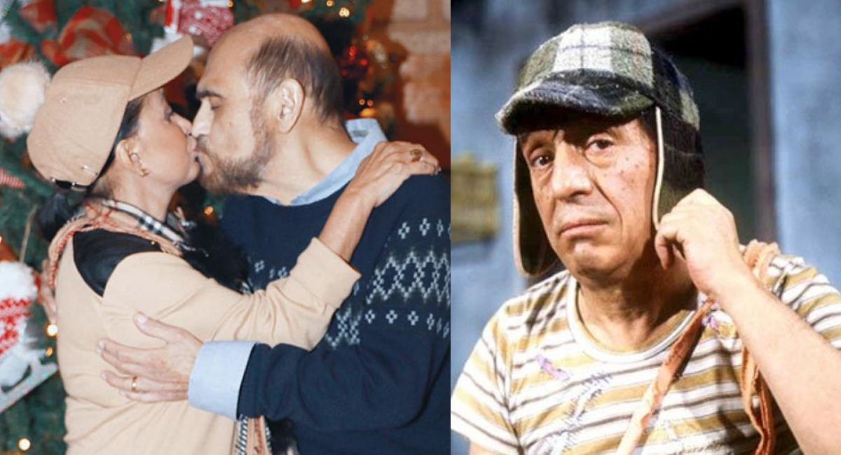 Chilindrina y Edgar Vivar se reconcilian con beso en la boca