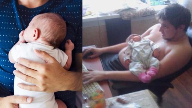 Padres primerizos engordan hasta 8 kilos tras parto: estudio