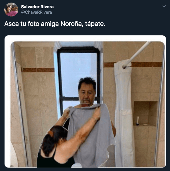Memes de Gerardo Fernández Noroña saliendo de bañarse