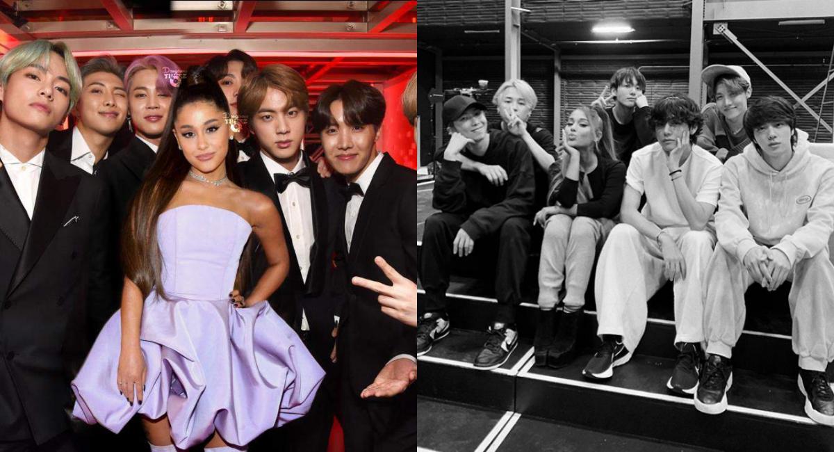 Ariana Grande y BTS juntos en los ensayos del Grammy 2020