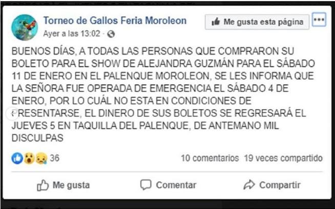 Alejandra Guzman en Moroleón