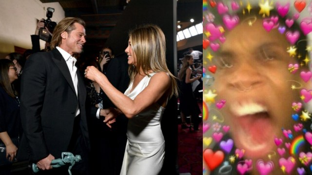 Brad Pitt y Jennifer Aniston reencuentro en SAG Awards 2020