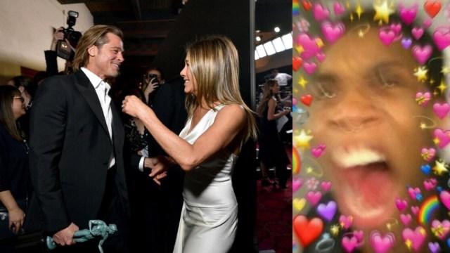 Brad Pitt y Jennifer Aniston reencuentro en SAG Awards 2020