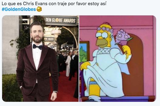 Chris Evans meme globos de oro 2020