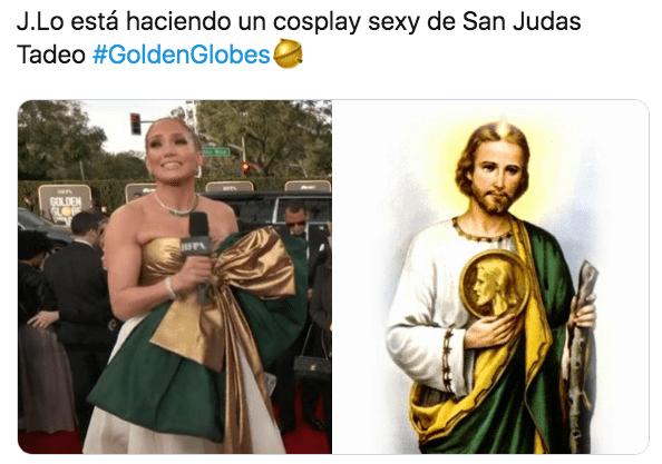 Meme Jennifer Lopez globos de oro 2020