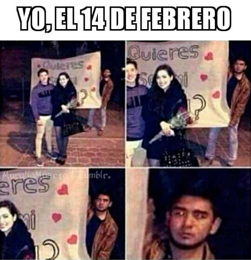 memes 14 de febrero cartulina