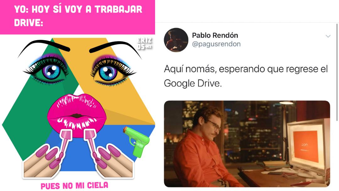 Memes de la caída de Google Drive a nivel mundial