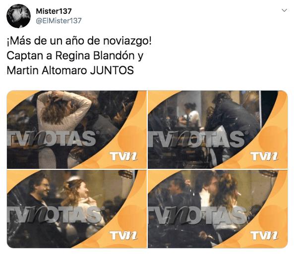 Regina Blandón y Martín Altomaro