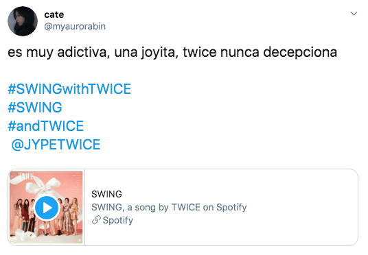 TWICE lanza SWING