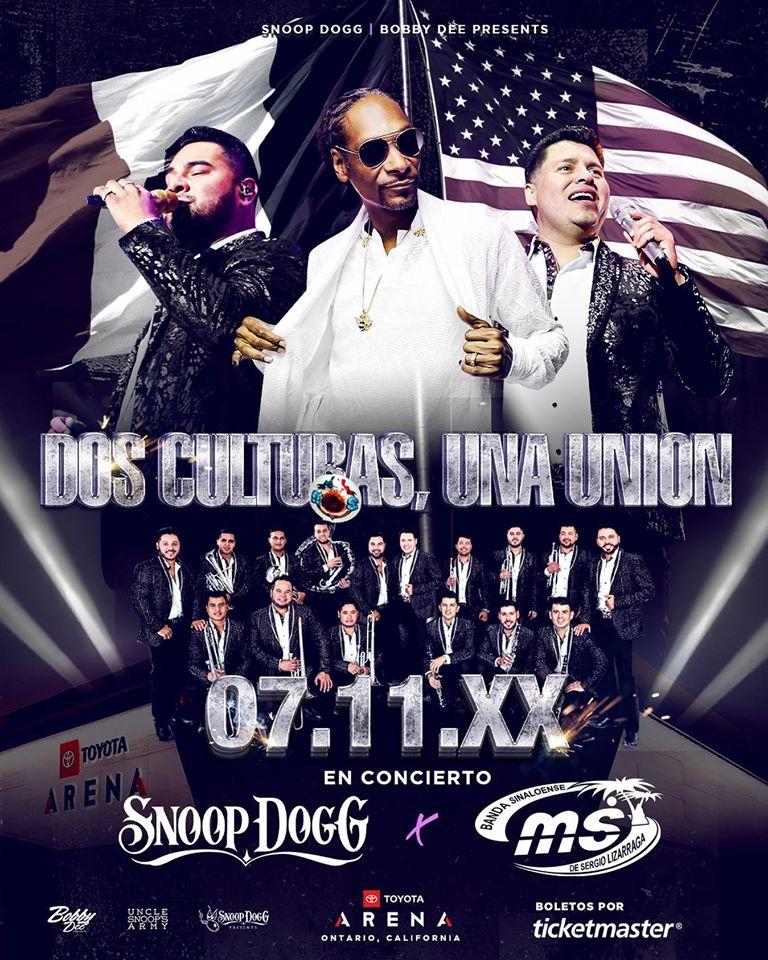 Snoop Dogg y banda MS darán concierto juntos