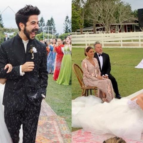 Evaluna Montaner y Camilo generan polémica con su boda por lavado de pies