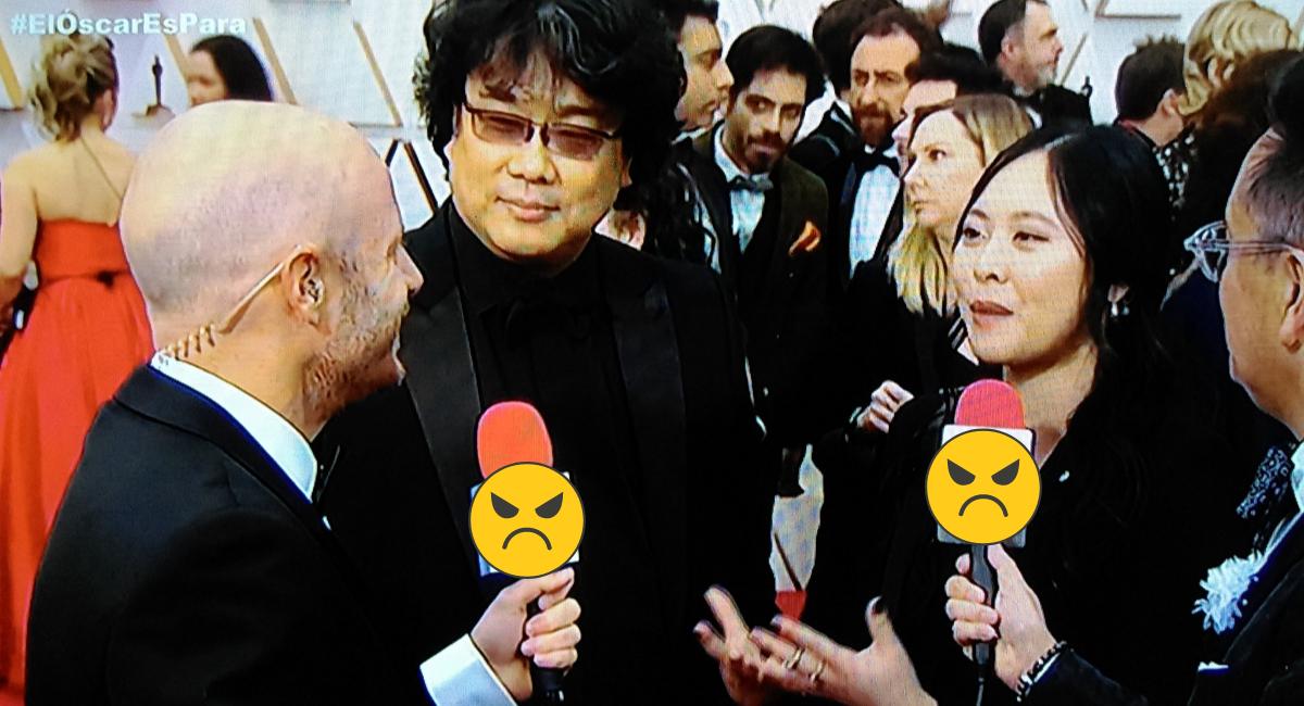 Facundo hace bromas racistas a director de Parasite en Oscar